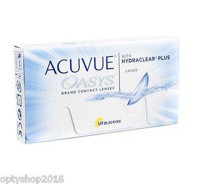 Acuvue oasys hydraclear 1x6  2-Wochenlinsen, Kontaktlinsen 8,4 oder 8,8
