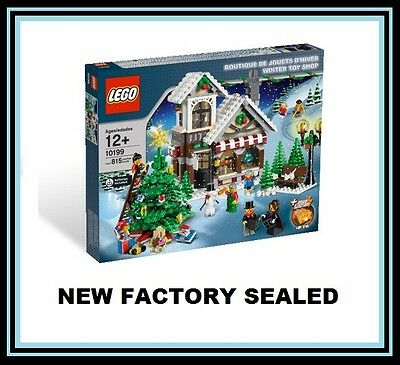 LEGO 10199 Christmas Winter Village City Town Toy Shop Tree 7 minifig lot NEW