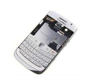 OEM NEW WHITE FULL HOUSING PARTS back door cover keypad FOR BLACKBERRY BOLD 9700