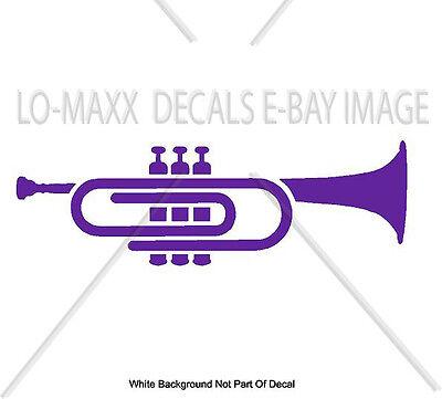 Novelty Car Horns (Paper Clip Trumpet Horn Music Novelty Truck Car Glass Wall Die Cut Vinyl)