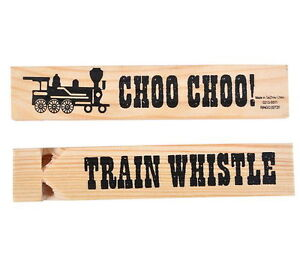 3 NEW WOODEN TRAIN WHISTLES WOOD WHISTLE ALMOST 6