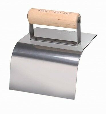 Kraft Tool Concrete Curb Trowel Stainless Steel 2 Radius