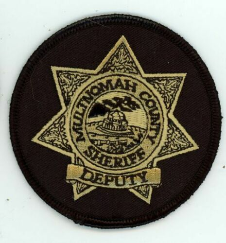 MULTNOMAH COUNTY SHERIFF DEPUTY OREGON OR ROUND PATCH 3 1/4 INCHES POLICE