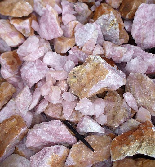 10 kg Rosenquarz Wasserstein Rohstein Edelstein Mineralien Heilstein in Stücken