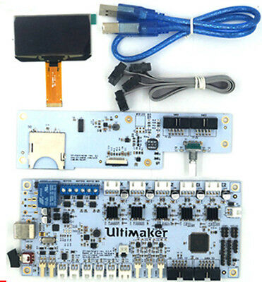 1kit For 3d Printer Ultimakerv2.1.4 Motherboard Lcd Control Panel Set