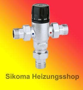 Brauchwassermischer Mischventil Trinkwassermischer Verbrühschutz 30-65°C  3/4