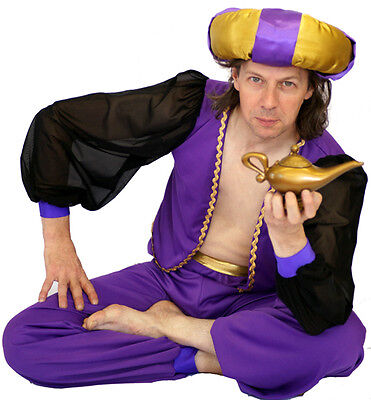 Aladdin -GENIE-Arabian Prince- Complete Fancy Dress Costume All sizes - Male Genie Costume