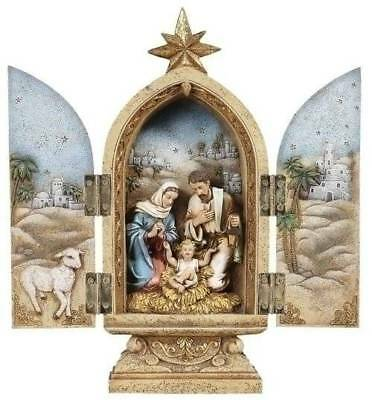 - Nativity Set Statue 10 in Triptych Door Open Close Wall Plaque Tabletop Tryptych