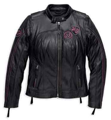 97190-18VW Harley-Davidson Women's Limited Edition Pink Label Leather Jacket