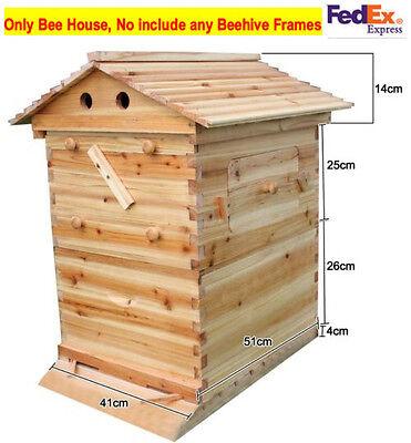 Cedarwood Super Brood Beekeeping Box For 7 pcs Auto Honey Bee Hive Frames