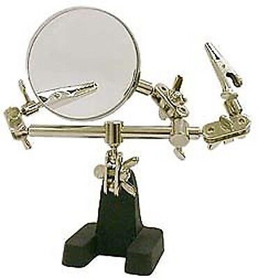 Hands Free Helping Hand Hobby Magnifier 3X Magnifying Jewelry Repair Work