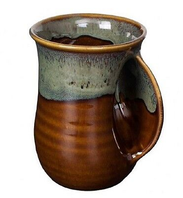 Hand Warmer Mug Mocha Right Hand by Clay In Motion