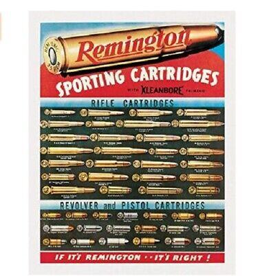 REMINGTON CARTRIDGES TIN SIGN HUNTING AND SHOOTING METAL POSTER WALL ART  Metal Art Sign