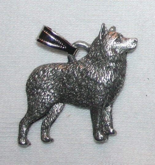 Schipperke Dog Harris Fine Pewter Pendant USA Made