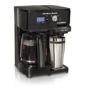 HAMILTON BEACH 12- CUP 2-WAY FLEXBREW COFFEE MAKER