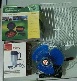 Camping Bundle Fan cups pans drainer