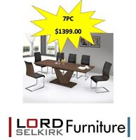 LORD SELKIRK FURNITURE - ECLIPSE DINING TABLE WITH VENETA CHAIRS