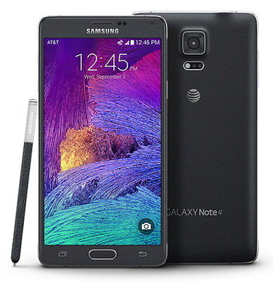 NEW Samsung Galaxy Note 4 SM-N910A UNLOCKED AT&T 4G LTE 32GB Smartphone BLACK
