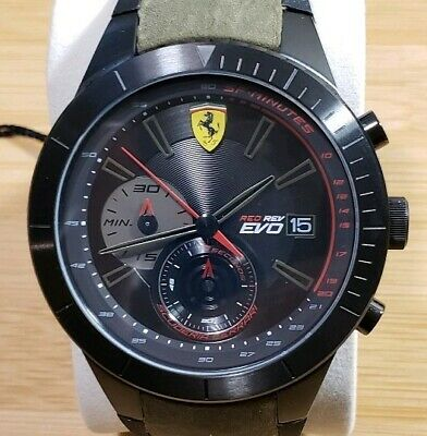 Scuderia Ferrari 0830397 watch with 46mm Black Face & Camouflage Band.