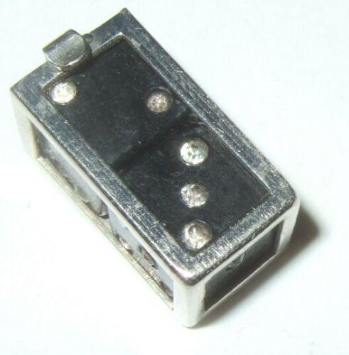 Black Dice in Holder Miniature