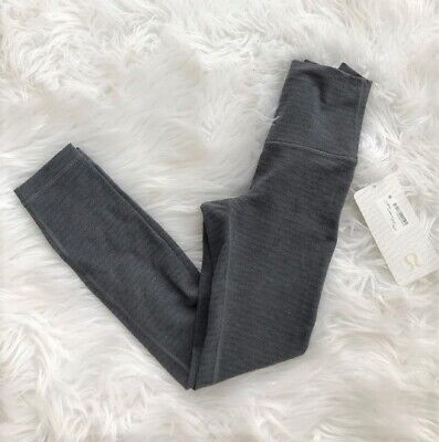 NWT Lululemon High Times Pant Size 4 Luon Pique Black Dark Slate -- New With Tag
