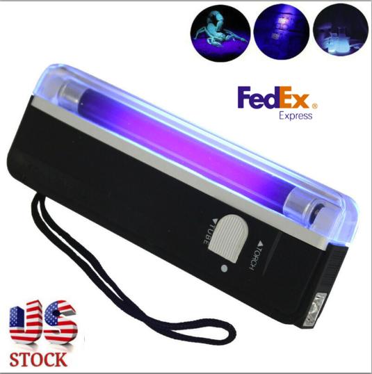 Handheld 4W UV Black Light Torch Portable Blacklight Torchli