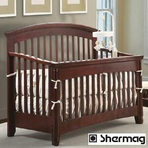 NEW* SHERMAG GENOA CHERRY CRIB CHERRY FINISH SOLID WOOD - BABIES CRIBS BEDS BEDROOM FURNITURE DECOR BEDDING 104590123
