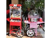 🌟 Popcorn Cart Hire - Candy Floss Machine Hire - Slush machine Hire - Chocolate Fountain !