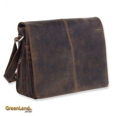 GreenLand Cross Body Bag Westcoast Organizerbag A4 Buffalo-Brown