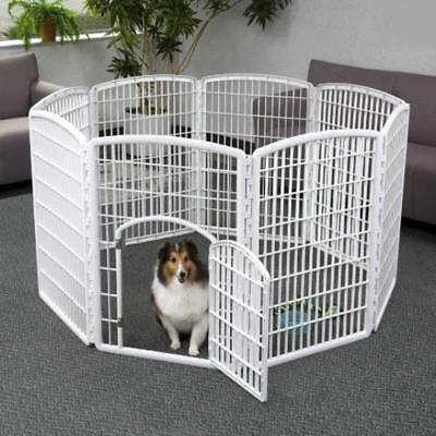 Iris Indoor/Outdoor Plastic Pet Pen 8 Panels Dog Cat Fences Excercise New F