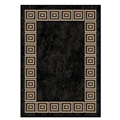 BLACK ORIENTAL AREA RUG 8X11 LARGE Persien CARPET 021 - ACTUAL 7' 8