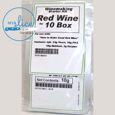 Wine Making Kits – Red & White – Yeast, Nutrient, PMS and Pectic Enzyme