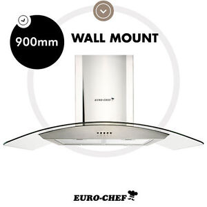 NEW EURO-CHEF Commercial Stainless Steel Range Hood Canopy 900mm 90cm Wall Mount