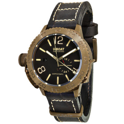 Used, U-Boat Classico Doppiotempo 46 Bronzo Bronze & Brown Dial Automatic Wristwatch for sale  Shipping to Nigeria