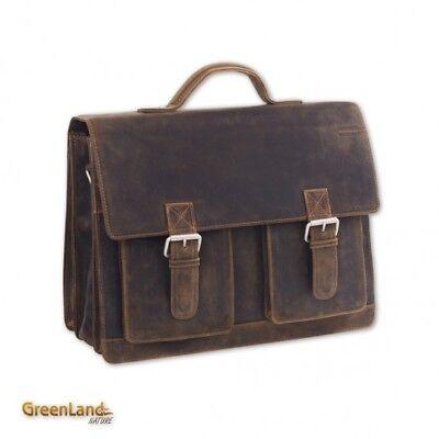 GreenLand Cross Body Bag Westcoast School-Officebag Buffalo-Brown