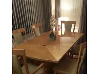 Hi Gloss Wooden Extending Dining table & 6 chairs