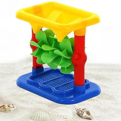 Für den Buddelkasten oder am Strand: kleine Sandmühle für Kinder (Sandspielzeug)