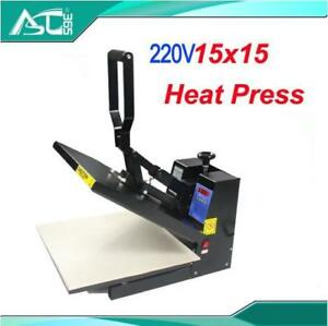 220V 15x15 Digtal Flat Heat Press Printing Machine 2 sheets Teflon DIY T-shirts (000001)