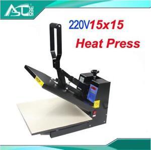 220V 15x15 Digtal Flat Heat Press Printing Machine 2 sheets Teflon DIY T-shirts (000001)