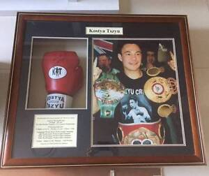 Kostya Tszyu Framed and signed boxing glove and photo - exc cond South Penrith Penrith Area Preview