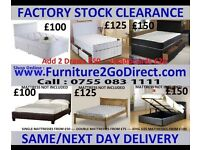 Many different styles and size of new bed frame and mattress