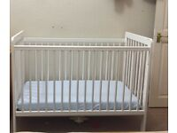 Baby cot and mattress excellent condition available for sale in Edinburgh