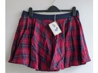 M&S red tartan mini-skirt