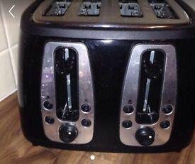 Russell Hobbs black 4 slice toaster