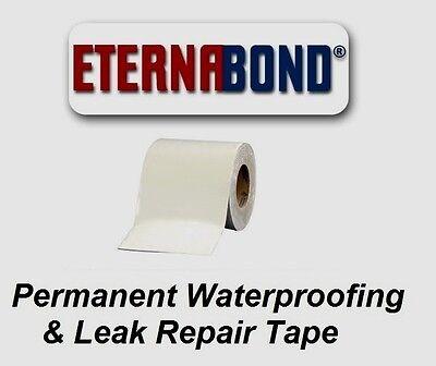 "4"" x 12 ft Eternabond Roof Leak Repair Tape Patch Seal - WHITE - 12 Feet 12 Foot"