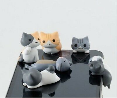 10pcs Free Shipping Cheese Cat Anti Dust Earphone Jack Plug Stopper for  on Rummage