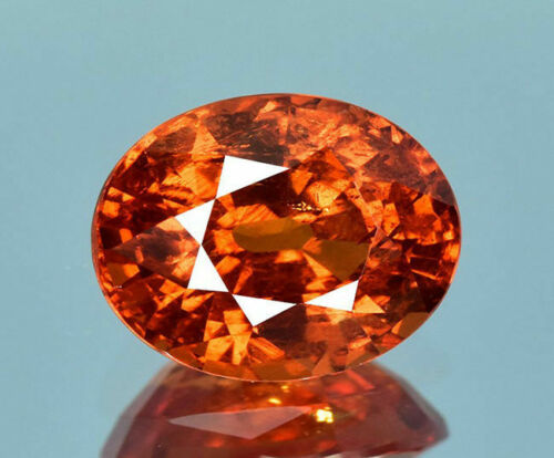 Natural Spessartite Garnet Unheated Gemstone 1.10Ct IF/VVS Brilliant Cut & Color