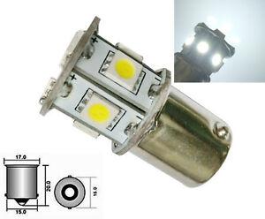 2x BA15S 6V DC Weiß 13 LED SMD Seitenlicht Blinker Glühbirne 1156 P21W 6000K