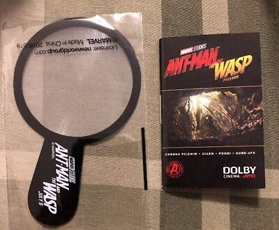 Rare Ant Man And The Wasp Magnifying Glass   Mini Comic Book Ships Immediately