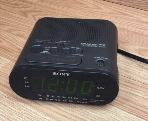Sony Dream Machine Clock AM FM Radio Alarm Clock Model Large Display ICF-C218